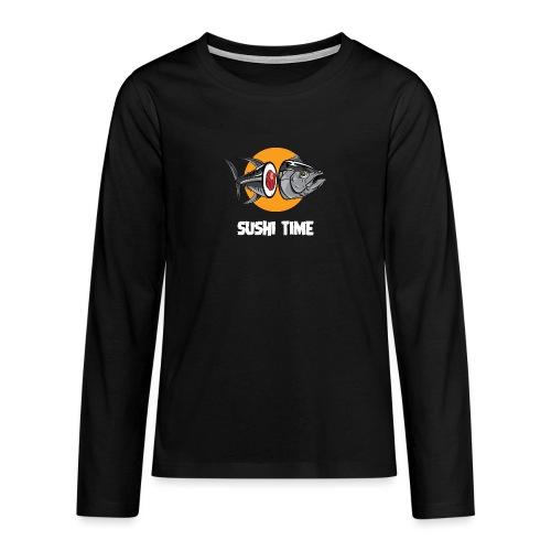 SUSHI TIME-tonno-b - Maglietta Premium a manica lunga per teenager