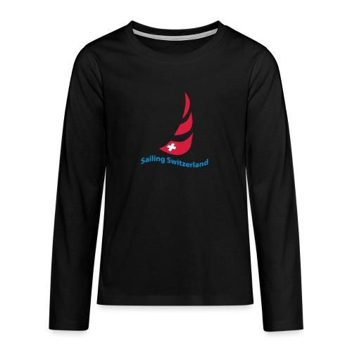 logo sailing switzerland - Teenager Premium Langarmshirt