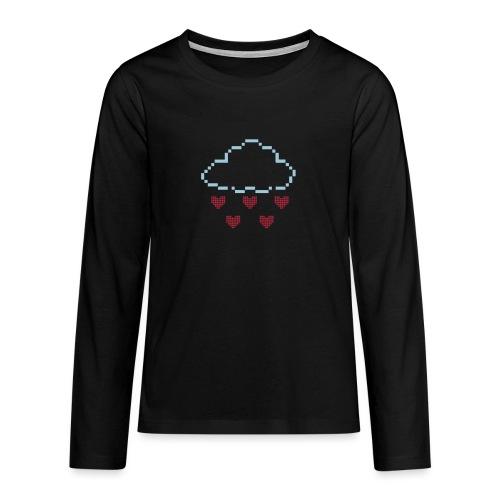 Wolke Pixelherz - Teenager Premium Langarmshirt