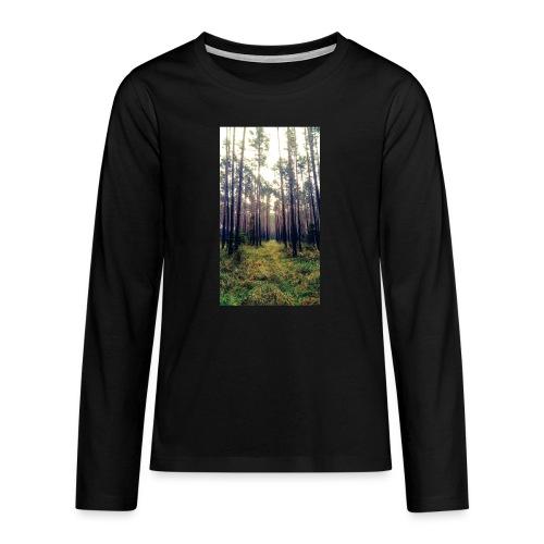Las we mgle - Koszulka Premium z długim rękawem dla nastolatków