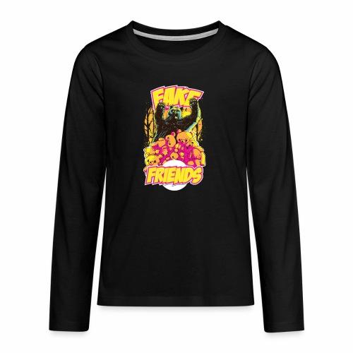 Fake Friends - Teenager Premium Langarmshirt