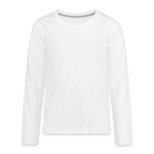 Kissa Kissanpentu valkoinen scribblesirii - Teinien premium pitkähihainen t-paita