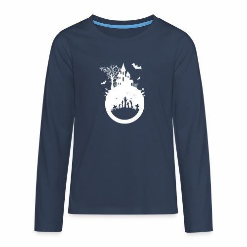 Halloween Design - Das Spukhaus - Teenager Premium Langarmshirt