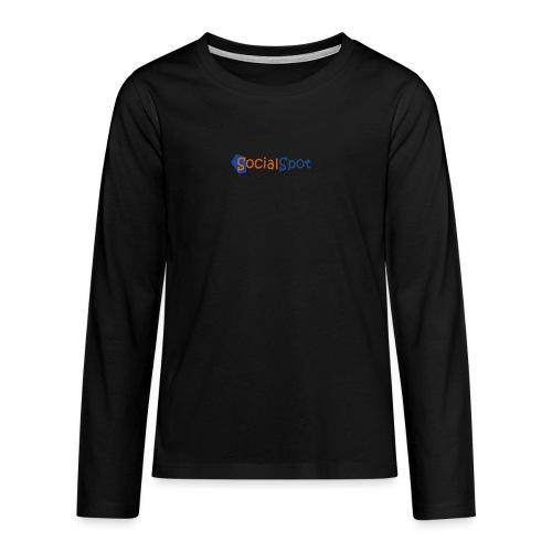 socialspot logo cc png - T-shirt manches longues Premium Ado