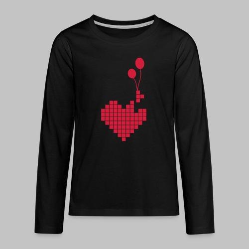 heart and balloons - Teenagers' Premium Longsleeve Shirt