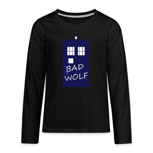 Bad Wolf Tardis - T-shirt manches longues Premium Ado