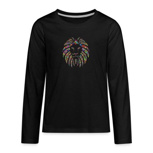 Ausdruck des Löwen - Teenager Premium Langarmshirt
