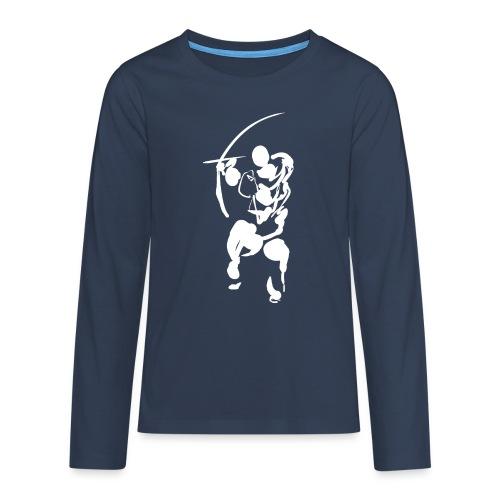 Path of the bow (white) - Teenagers' Premium Longsleeve Shirt