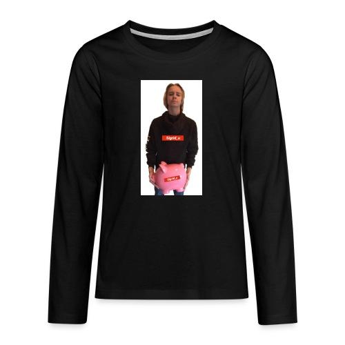 Sigrid_uPhotoTee - Premium langermet T-skjorte for tenåringer
