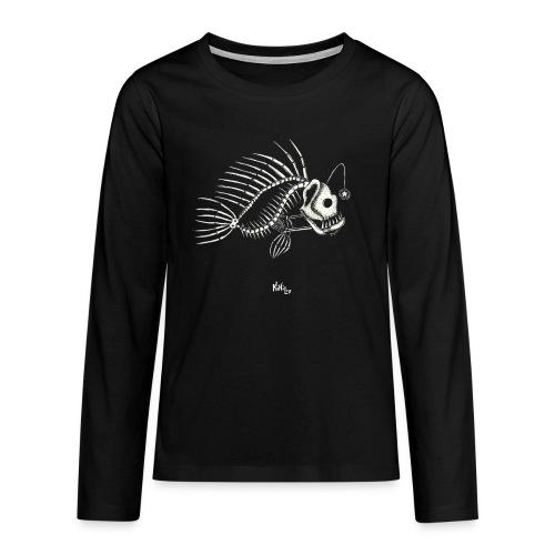 Pezqueleto (Sin fondo) - Camiseta de manga larga premium adolescente