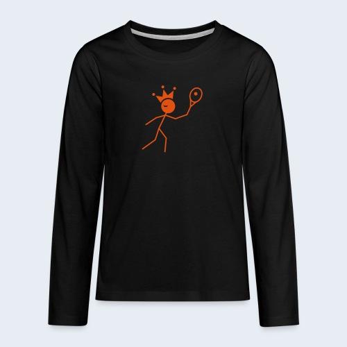 Tenniskoning - Teenager Premium shirt met lange mouwen