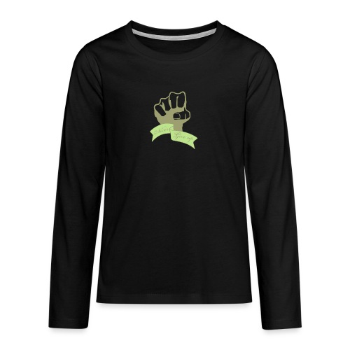 nevergiveup - T-shirt manches longues Premium Ado