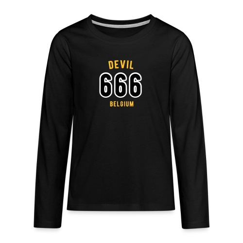 666 devil Belgium - T-shirt manches longues Premium Ado