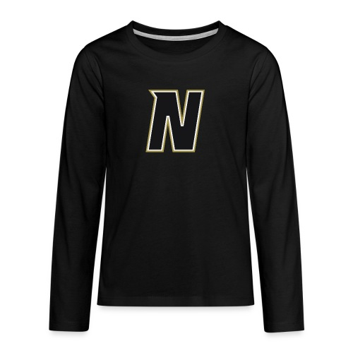 Nordic Steel Black N - Teenagers' Premium Longsleeve Shirt