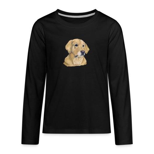 labrador yellow - pastel - Teenager premium T-shirt med lange ærmer