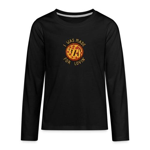 PIZZA LOVER - Koszulka Premium z długim rękawem dla nastolatków
