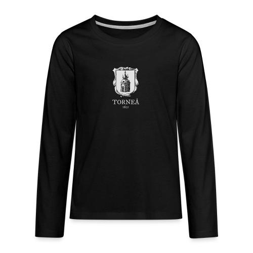 Torneå 1621 vaalea - Teinien premium pitkähihainen t-paita