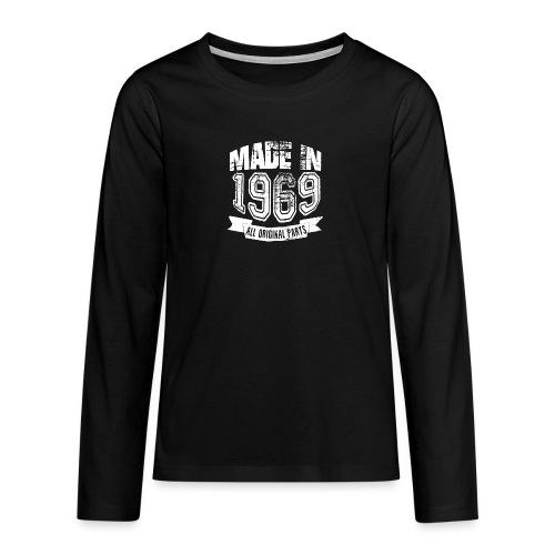 Made in 1969 - Camiseta de manga larga premium adolescente