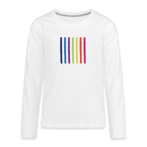 Linjer - Teenager premium T-shirt med lange ærmer