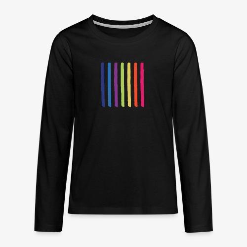 Linee - Maglietta Premium a manica lunga per teenager
