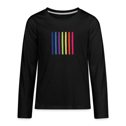 Lines - Teenagers' Premium Longsleeve Shirt