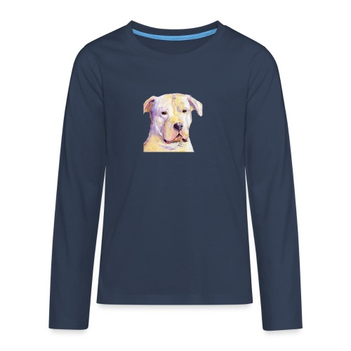 dogo argentino - Teenager premium T-shirt med lange ærmer