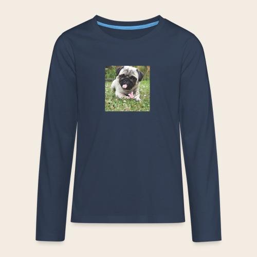Mops Wiese - Teenager Premium Langarmshirt