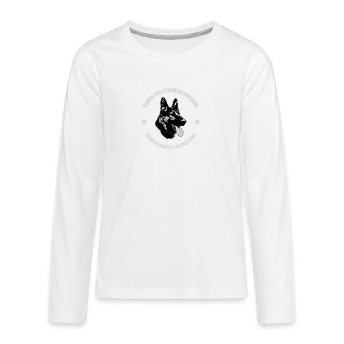 Svendborg PH hvid skrift - Teenager premium T-shirt med lange ærmer