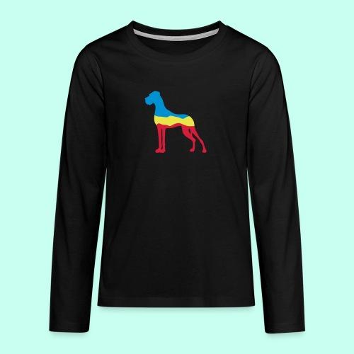 Flaggen Dogge - Teenager Premium Langarmshirt