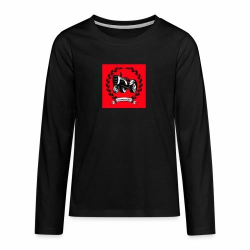 KonradSB czerwony - Koszulka Premium z długim rękawem dla nastolatków