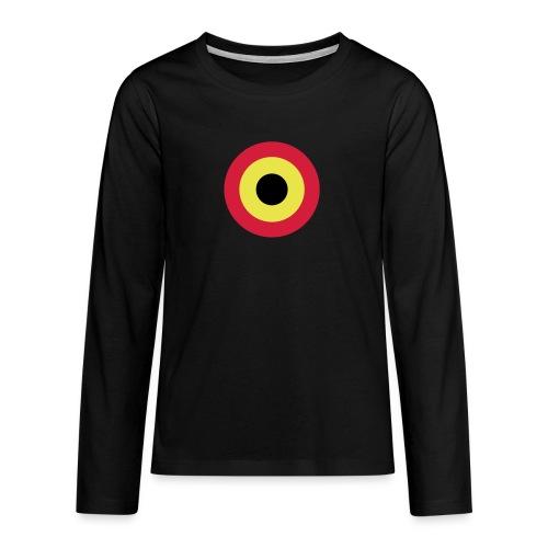Couleurs Belgique - Belgium - Belgie - T-shirt manches longues Premium Ado