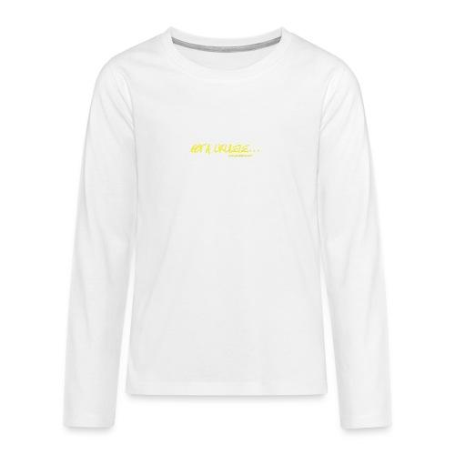 Official Got A Ukulele website t shirt design - Teenagers' Premium Longsleeve Shirt