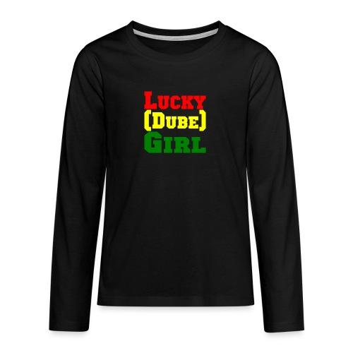 lucky dubes girl png - Teenagers' Premium Longsleeve Shirt