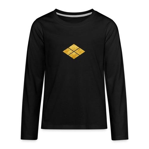 Takeda kamon Japanese samurai clan faux gold - Teenagers' Premium Longsleeve Shirt