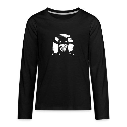 white 01big png - Teenager Premium Langarmshirt