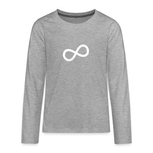 white JS.png - Långärmad premium T-shirt tonåring