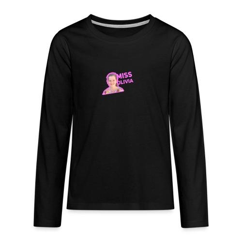 MissOlivia kindermerch - Teenager Premium shirt met lange mouwen