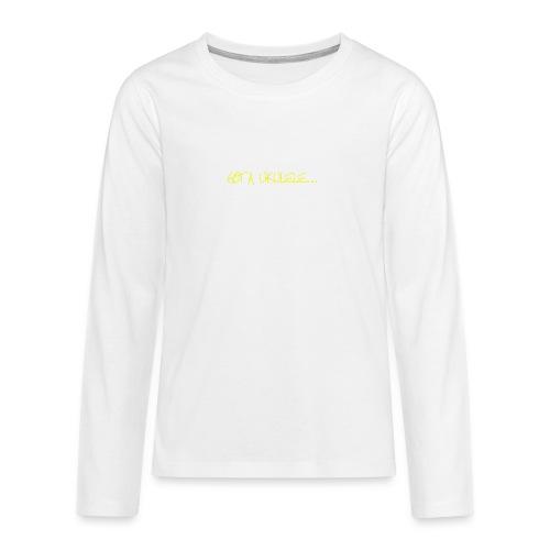 Got A Ukulele Grumpy - Teenagers' Premium Longsleeve Shirt