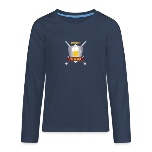 Knights of The Bajers - Teenager premium T-shirt med lange ærmer