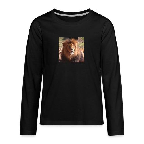 Lejon - Långärmad premium T-shirt tonåring