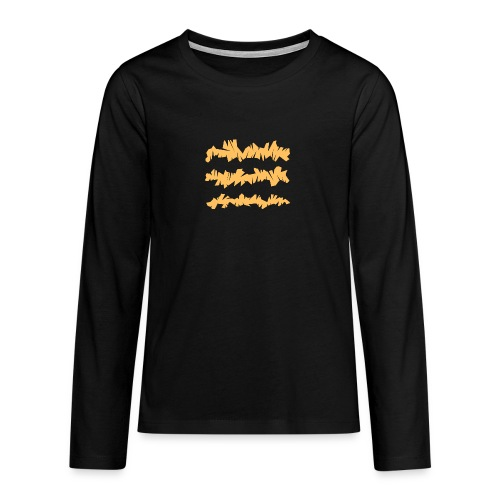 Orange_Sample.png - Teenager Premium Langarmshirt