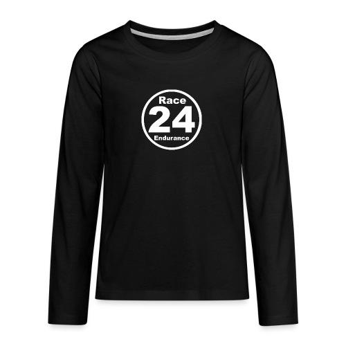 Race24 round logo white - Teenagers' Premium Longsleeve Shirt
