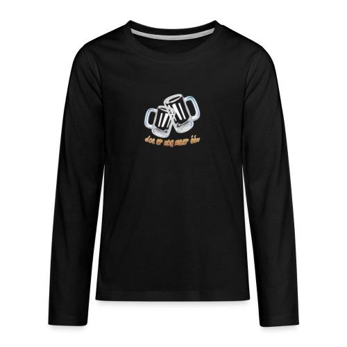 Doe er nog maar een Shirt png - Teenager Premium shirt met lange mouwen