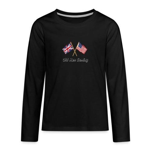 OMG logo - Teenagers' Premium Longsleeve Shirt