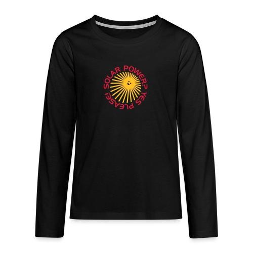 BD Solar Power - Teenager Premium Langarmshirt