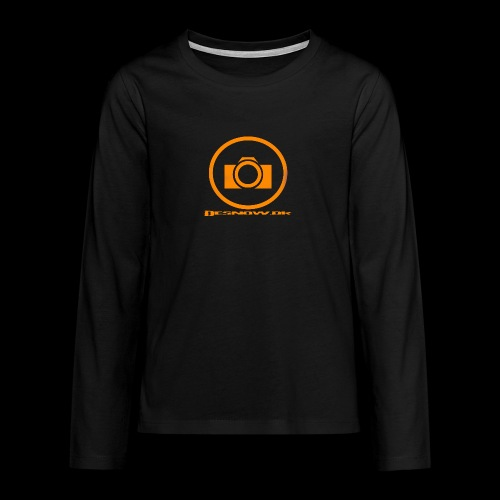Orange 2 png - Teenager premium T-shirt med lange ærmer