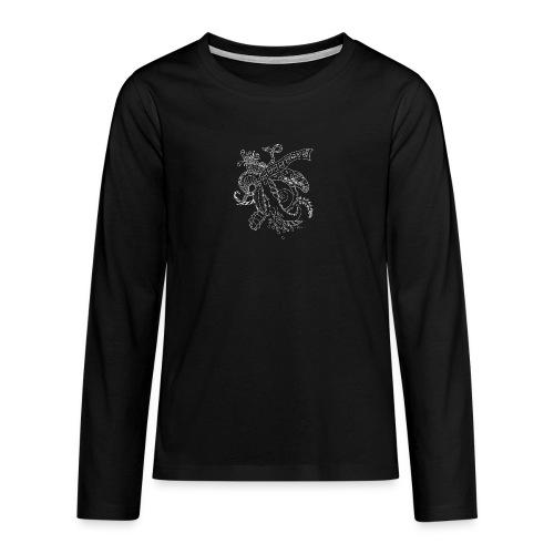 Fantasy white scribblesirii - Teenagers' Premium Longsleeve Shirt