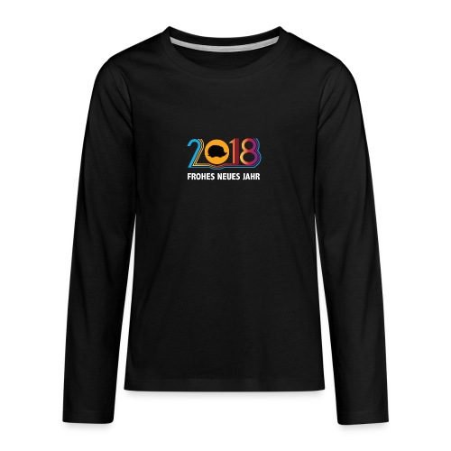 Frohes neues Jahr 2018 Igeldesign - Teenager Premium Langarmshirt