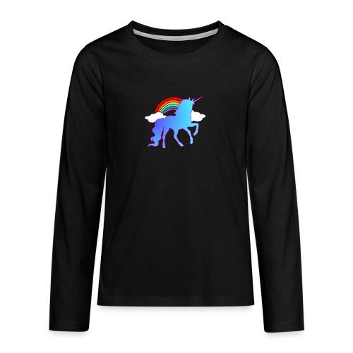 Einhorn Design - Teenager Premium Langarmshirt