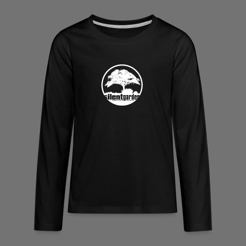 hiljainen puutarha (valkoinen) - Teinien premium pitkähihainen t-paita